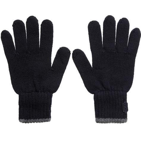 boys knit gloves dolce gabbana boys navy blue knit gloves childrensalon