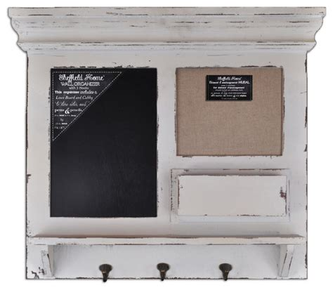 burlap chalk framed wall organizer with hooks shabby