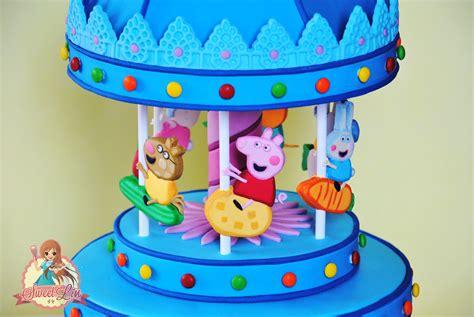 Grosiran Peppa Pig Peppa Pig Carrousel finally peppa pigs carousel landed on the cake i made the