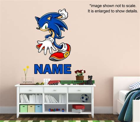 sonic the hedgehog decor for bedroom sonic wall decals 60 best sonic bedroom images on