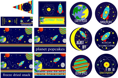 printable outer space name tags outer space party printables kids in my l i f e