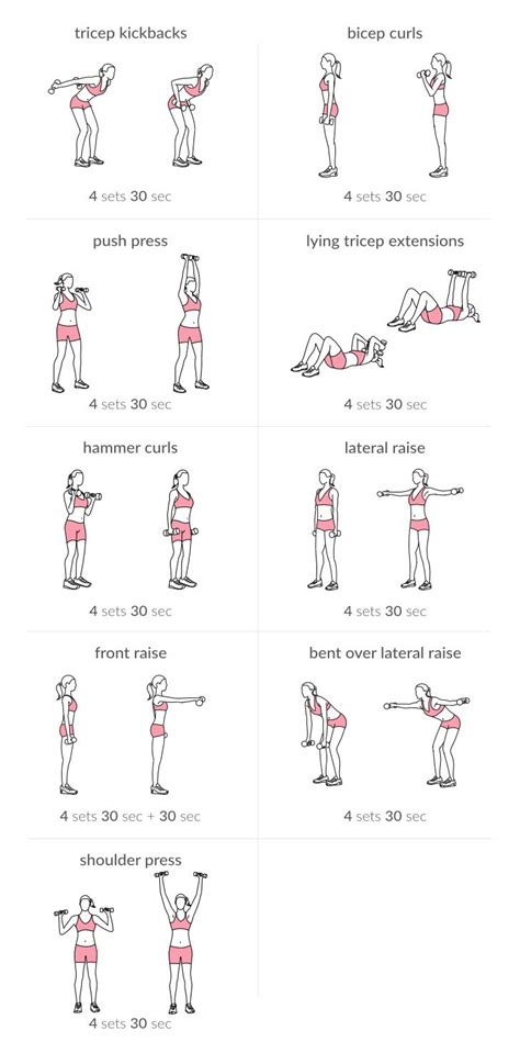 dumbbell exercises biceps triceps and