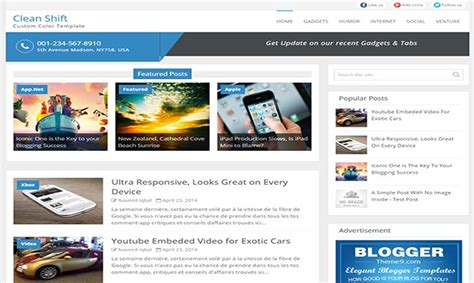 templates blogger clean clean shift blogger template
