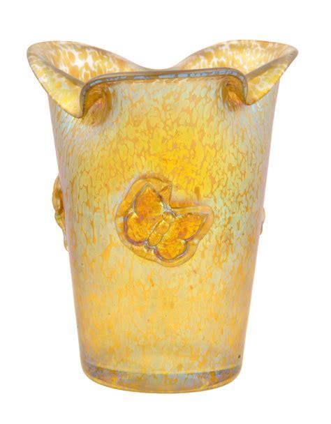 Loetz Papillon Vase by Lot Detail Loetz Papillon Vase With Butterflies