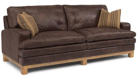 Leather With Fabric Seat Cushions by Brown Leather Seat With Fabric Cushions Also