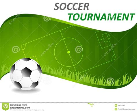 Sport Template With Soccer Ball Stock Vector Illustration Of Background Equipment 39871392 Soccer Design Template