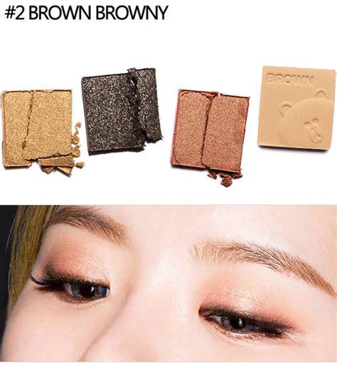 Brown Missha Eyecolor Studio Mini Line Friends Eyeshadow box korea missha eye color studio mini 7 2g line
