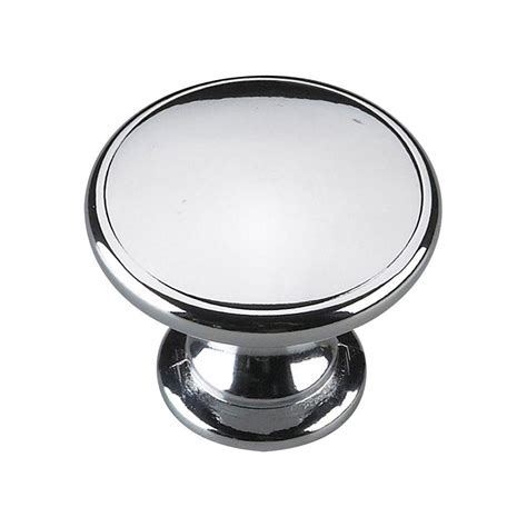 home depot cabinet pulls and knobs richelieu hardware contemporary and modern 5 8 in chrome cabinet knob bp1372140 the home depot
