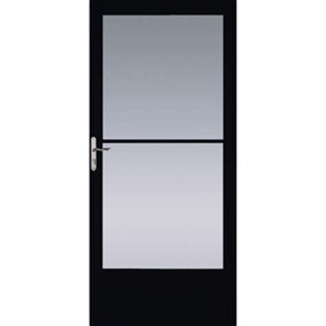 pella retractable screen door shop pella black mid view tempered glass retractable