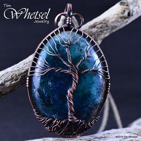 Infinity Pendant Orgonite orgonite tree of wire wrapped necklace pendant