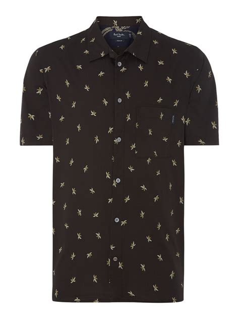 Banana Shirt by Paul Smith Shortsleeve Banana Print Shirt In Black For
