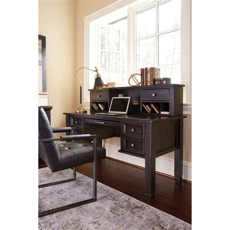 townser home office desk with hutch signature design by ashley townser solid pine home office