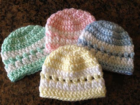 pattern crochet preemie hat quick color band preemie beanie sheepishly sharing