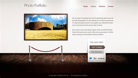 art gallery html wp template by webcrafters on deviantart