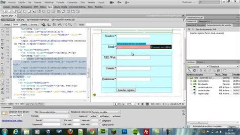 dreamweaver tutorial with php parte1 sistema de login y registros con php mysql