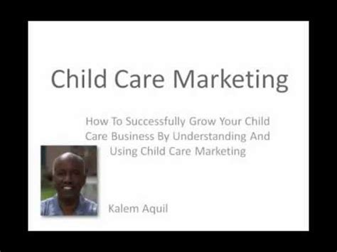 child care marketing how to tips market your child care