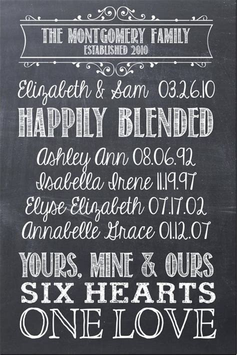 First We Had Each Other Family SIgn 16x24 Chalkboard Modern