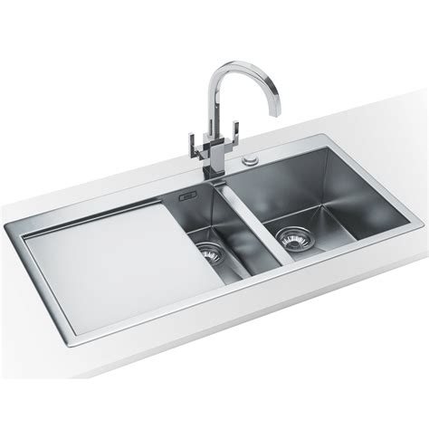 Franke Planar Ppx 251 Slim Top 1 5 Bowl Stainless Steel Slimline Kitchen Sink