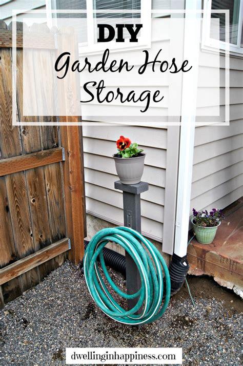 diy garden hose storage dwelling  happiness