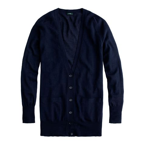 Sweater Navy j crew classic merino wool cardigan sweater in blue