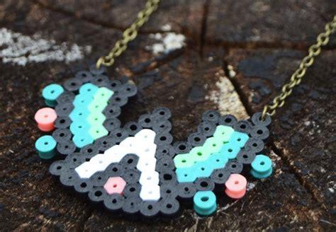 easy perler easy perler bead tribal necklace
