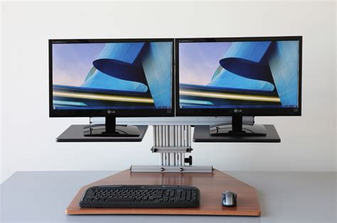 computer monitor stand for desk adjustable computer monitor stand for dual monitors