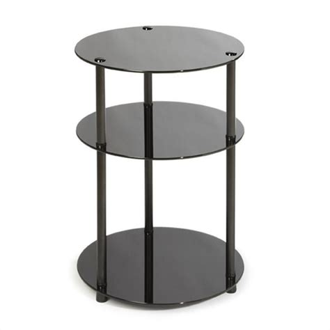 black round accent table 3 tier round accent table in black 157007b