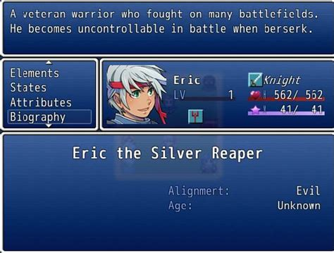 rpg biography generator actor alignment completed ace scripts rpg maker