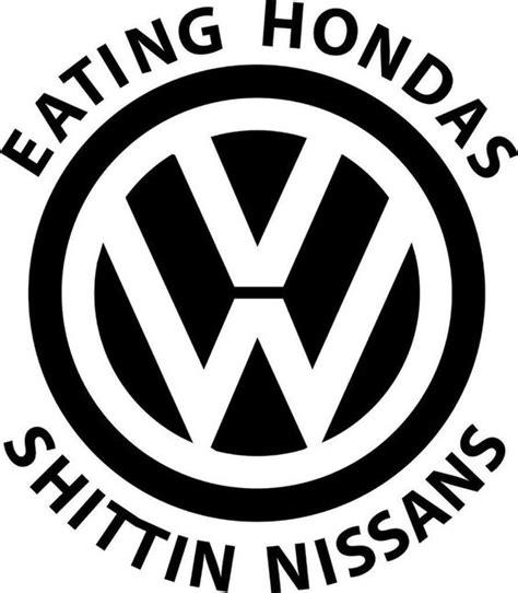 Vw Funny Sticker by Eating Hondas Volkswagen Vinyl Decal Sticker Car Vw Jetta