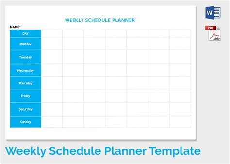 35 Sle Weekly Schedule Templates Sle Templates Week Day Schedule Template