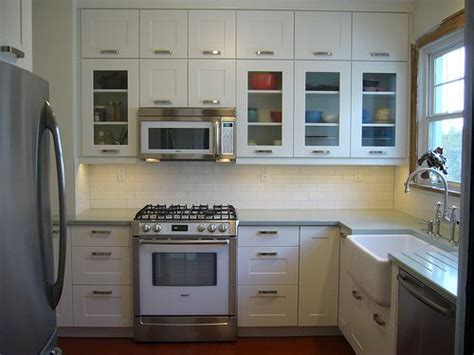 Lemari Dapur Stainless Steel ikea adel white kitchen cabinets laundry room cabinets glass doors and tile