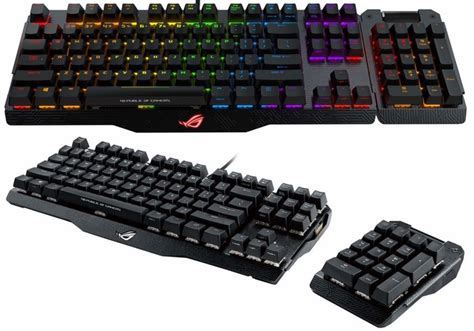 Keyboard Asus Rog Claymore Asus Rog Claymore Gaming Keyboard With Detachable Number Pad Geeky Gadgets
