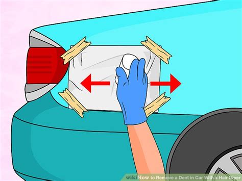 Hair Dryer Fix Car Dent how to remove a dent in car with a hair dryer 9 steps