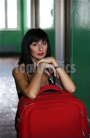 gorgeous red suitcases people expectation stock photo i1778586 at featurepics