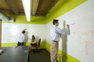 Ideapaint writable paint turns walls into easy dry erase whiteboards