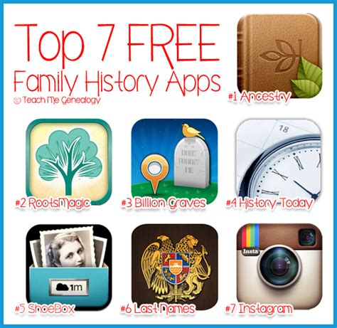 Top 7 Family Top 7 Free Family History Apps For Your Smart Phone Blogher