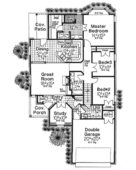 country french floor plans narrow lot french country house plan 48309fm 1st floor