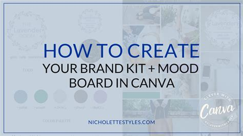 canva your brand how to create your own brand kit mood board in canva