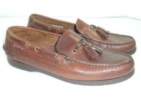 boat shoes with tassels mens sebago docksides 9 ww brown tassel boat shoes loafers