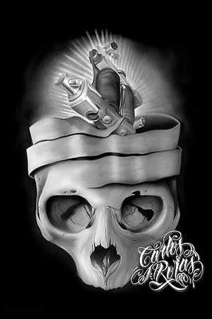 machine skull art by carlos rojas: tattoonow