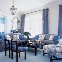 blue and white living room living room design blue white