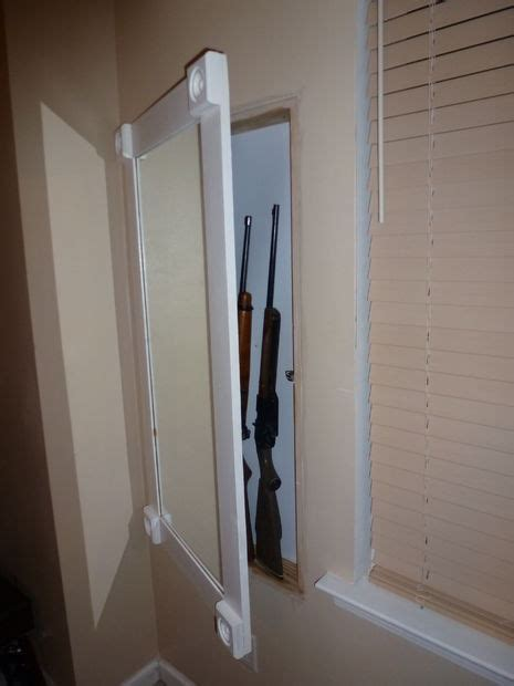 in wall gun cabinet with keypad