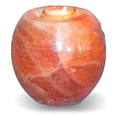 salt l candle holder himalayan pink salt candle holders