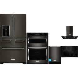 kitchenaid black stainless steel complete kitchen package