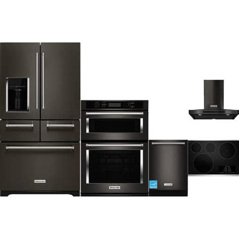 complete kitchen appliance packages kitchenaid black stainless steel complete kitchen package