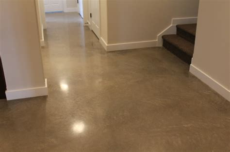 polished concrete floor with exposed aggregate basement