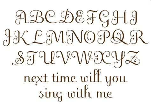 image gallery script alphabet