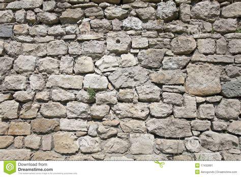 Concrete Block Floor Plans Old Rock Wall Stock Image Image 17432891