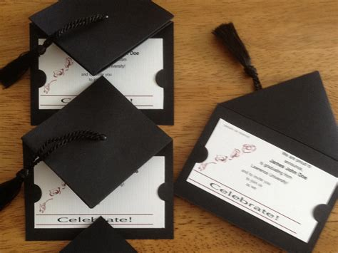 Handmade Graduation Invitations - graduation cap invitation ideas graduation 2013