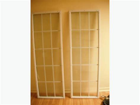Patio Door Glass Inserts Two Exterior Patio Garden Door Glass Inserts With White Grills Orleans Ottawa